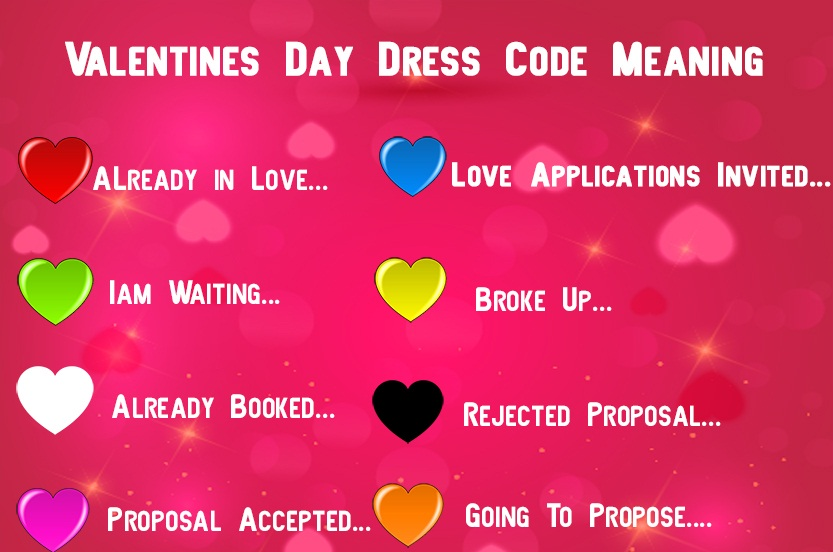 Valentine Week Dress Code Meaning of Colors Feb ideas