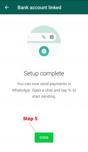 Whats app payment